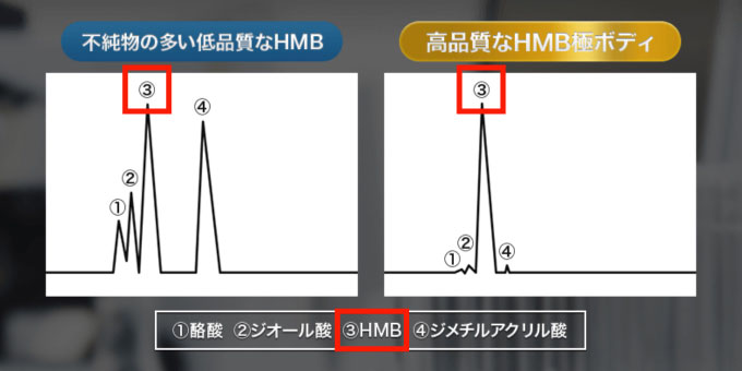HMB極ボディは不純物が極めて少ない